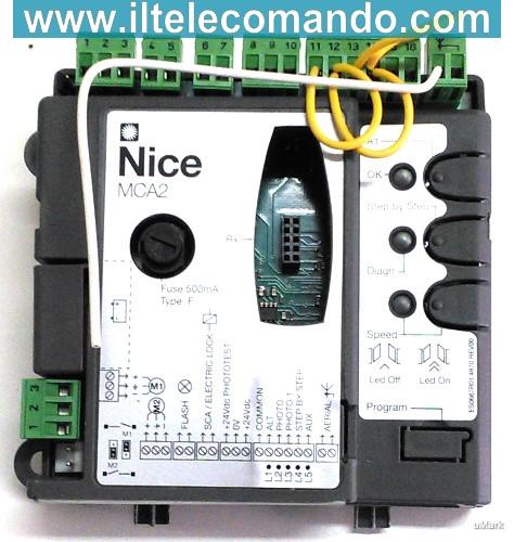 Schema Elettrico Nice Mca2 : Schema elettrico motore serranda nice tapparelle
